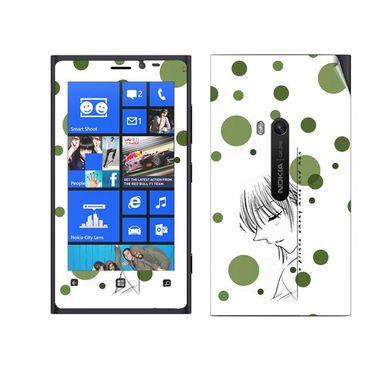 Snooky 39273 Digital Print Mobile Skin Sticker For Nokia Lumia 920 - White