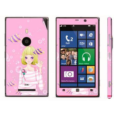 Snooky 39288 Digital Print Mobile Skin Sticker For Nokia Lumia 925 - Pink
