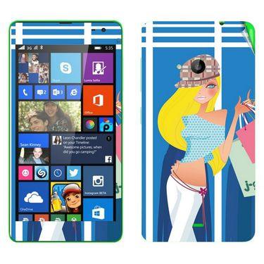 Snooky 39335 Digital Print Mobile Skin Sticker For Microsoft Lumia 535 - Blue