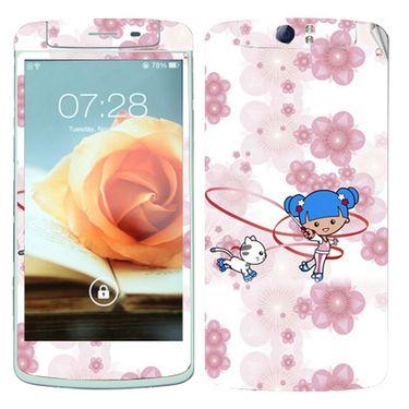 Snooky 39376 Digital Print Mobile Skin Sticker For OPPO N1 - White
