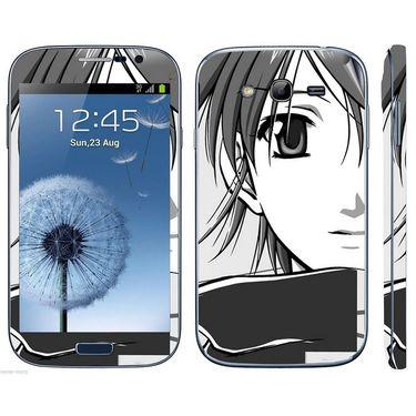 Snooky 39434 Digital Print Mobile Skin Sticker For Samsung Galaxy Grand Duos I9082 - Gray