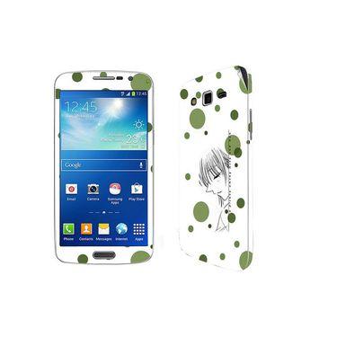 Snooky 39453 Digital Print Mobile Skin Sticker For Samsung Galaxy Grand 2 G7102 - White
