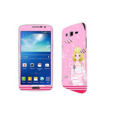 Snooky 39456 Digital Print Mobile Skin Sticker For Samsung Galaxy Grand 2 G7102 - Pink