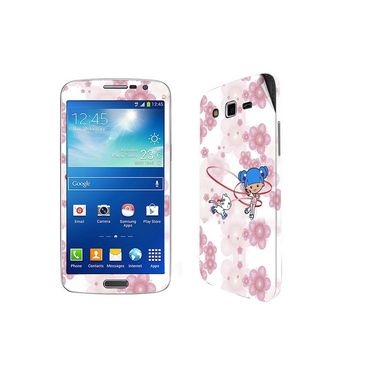 Snooky 39460 Digital Print Mobile Skin Sticker For Samsung Galaxy Grand 2 G7102 - White