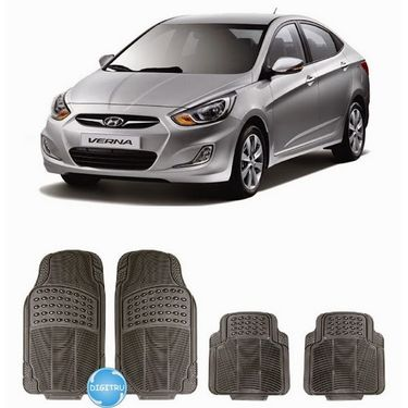Digitru - Car Rubber Foot Mat Verna (Black) _ DG20150104