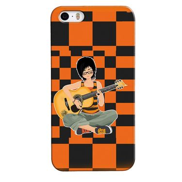 Snooky 35146 Digital Print Hard Back Case Cover For Apple iPhone 5s - Black