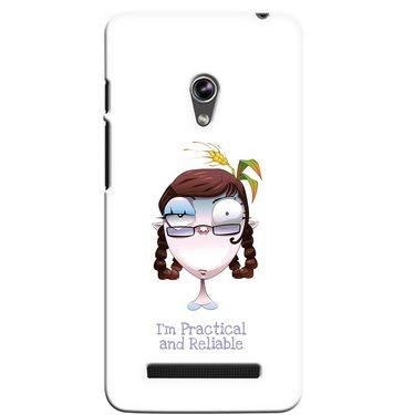 Snooky 36126 Digital Print Hard Back Case Cover For Asus Zenphone 5 - White