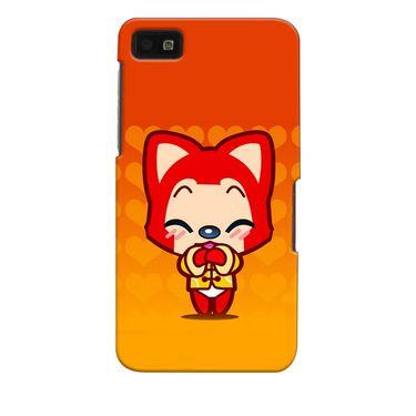 Snooky 35380 Digital Print Hard Back Case Cover For Blackberry Z10 - Orange