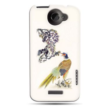 Snooky 37216 Digital Print Hard Back Case Cover For HTC ONE X S720E - Cream