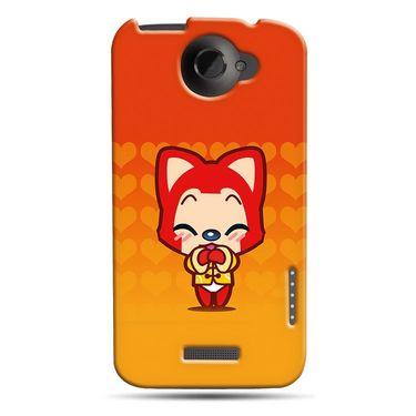 Snooky 37261 Digital Print Hard Back Case Cover For HTC ONE X S720E - Orange