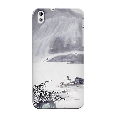 Snooky 37265 Digital Print Hard Back Case Cover For HTC Desire 816 - Grey