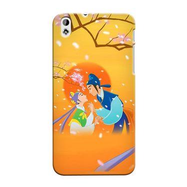 Snooky 37268 Digital Print Hard Back Case Cover For HTC Desire 816 - Orange