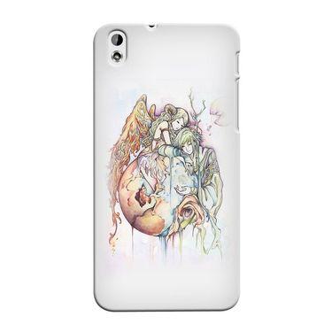 Snooky 37306 Digital Print Hard Back Case Cover For HTC Desire 816 - Multicolour