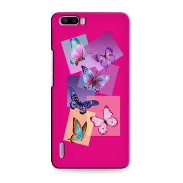 Snooky 37404 Digital Print Hard Back Case Cover For huawei honor 6 Plus - Pink