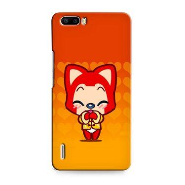 Snooky 37411 Digital Print Hard Back Case Cover For huawei honor 6 Plus - Orange