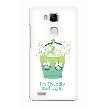 Snooky 37497 Digital Print Hard Back Case Cover For huawei Ascend Mate 7 - White