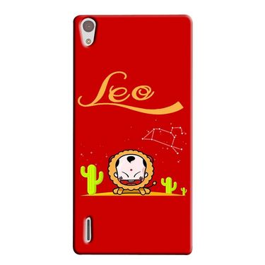 Snooky 38331 Digital Print Hard Back Case Cover For Huawei Ascend P7 - Red