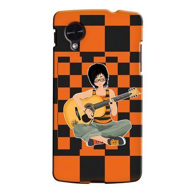 Snooky 35957 Digital Print Hard Back Case Cover For LG Google Nexus 5 - Black