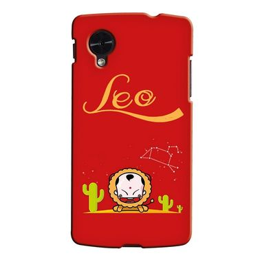 Snooky 35961 Digital Print Hard Back Case Cover For LG Google Nexus 5 - Red