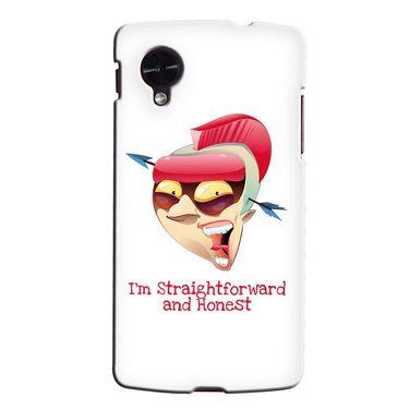 Snooky 35974 Digital Print Hard Back Case Cover For LG Google Nexus 5 - White