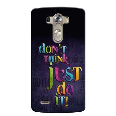 Snooky 37641 Digital Print Hard Back Case Cover For LG G3 - Black