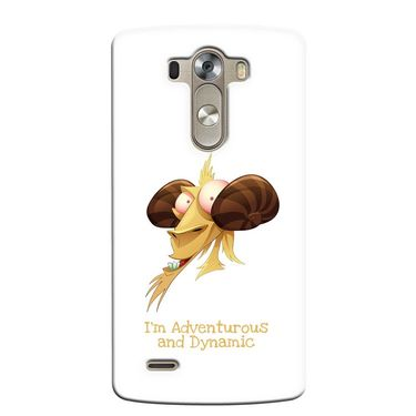 Snooky 37648 Digital Print Hard Back Case Cover For LG G3 - White