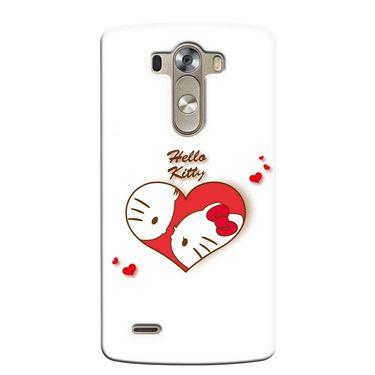 Snooky 37650 Digital Print Hard Back Case Cover For LG G3 - White