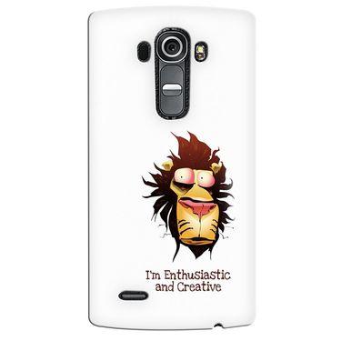 Snooky 37943 Digital Print Hard Back Case Cover For LG G4 - White