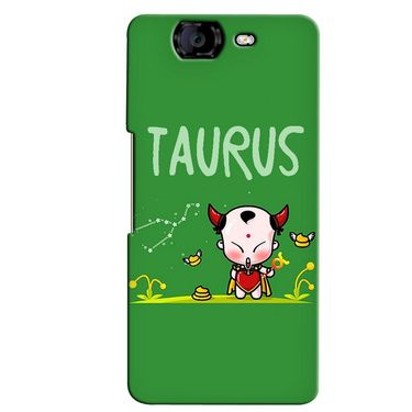 Snooky 35399 Digital Print Hard Back Case Cover For Micromax Canvas Knight A350 - Green