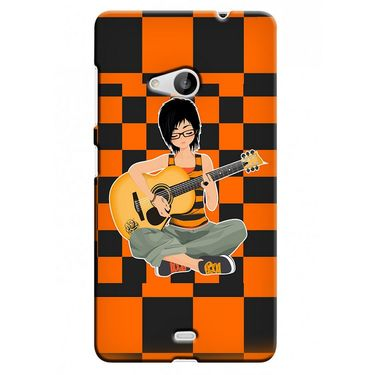 Snooky 38027 Digital Print Hard Back Case Cover For Microsoft Lumia 535 - Black