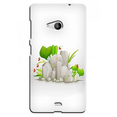 Snooky 38055 Digital Print Hard Back Case Cover For Microsoft Lumia 535 - White