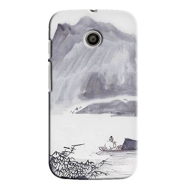Snooky 35795 Digital Print Hard Back Case Cover For Motorola Moto E - Grey