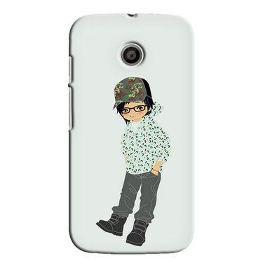 Snooky 35800 Digital Print Hard Back Case Cover For Motorola Moto E - Green
