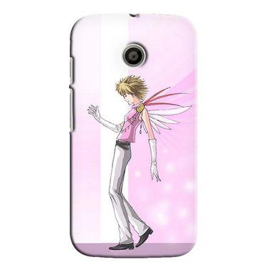 Snooky 35801 Digital Print Hard Back Case Cover For Motorola Moto E - Pink