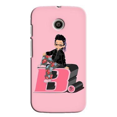 Snooky 35806 Digital Print Hard Back Case Cover For Motorola Moto E - Pink