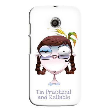 Snooky 35826 Digital Print Hard Back Case Cover For Motorola Moto E - White