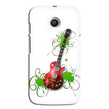 Snooky 35831 Digital Print Hard Back Case Cover For Motorola Moto E - White