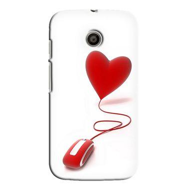 Snooky 35832 Digital Print Hard Back Case Cover For Motorola Moto E - White
