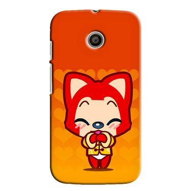 Snooky 35841 Digital Print Hard Back Case Cover For Motorola Moto E - Orange