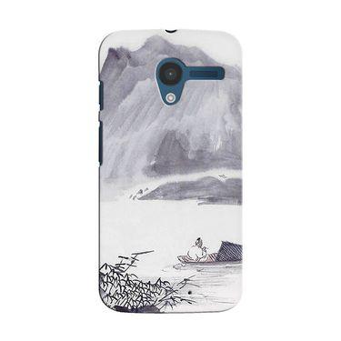 Snooky 35845 Digital Print Hard Back Case Cover For Motorola Moto X - Grey