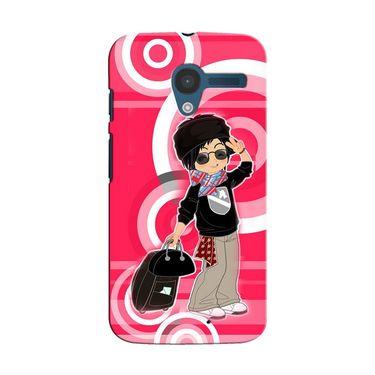 Snooky 35859 Digital Print Hard Back Case Cover For Motorola Moto X - Rose Pink