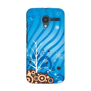 Snooky 35892 Digital Print Hard Back Case Cover For Motorola Moto X - Blue