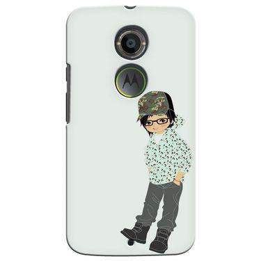Snooky 35900 Digital Print Hard Back Case Cover For Motorola Moto X2 - Green