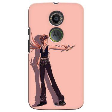 Snooky 35902 Digital Print Hard Back Case Cover For Motorola Moto X2 - Mehroon