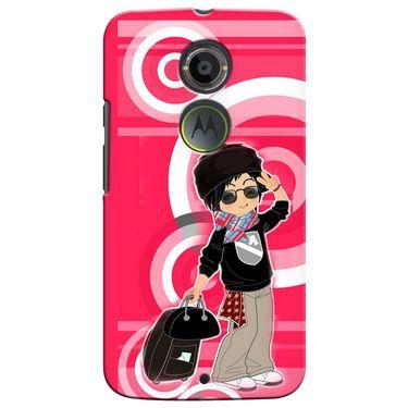 Snooky 35909 Digital Print Hard Back Case Cover For Motorola Moto X2 - Rose Pink