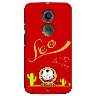 Snooky 35911 Digital Print Hard Back Case Cover For Motorola Moto X2 - Red