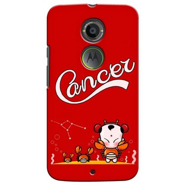 Snooky 35912 Digital Print Hard Back Case Cover For Motorola Moto X2 - Red
