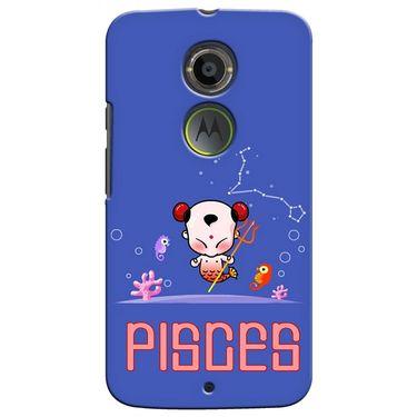 Snooky 35919 Digital Print Hard Back Case Cover For Motorola Moto X2 - Purple
