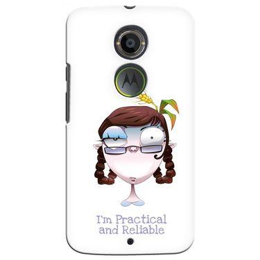 Snooky 35926 Digital Print Hard Back Case Cover For Motorola Moto X2 - White