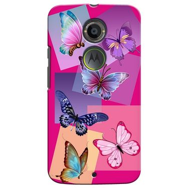 Snooky 35934 Digital Print Hard Back Case Cover For Motorola Moto X2 - Pink